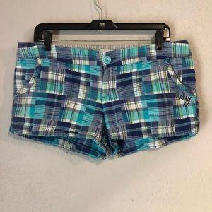 Size 13 Roxy plaid shorts